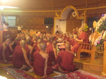 Ashin Cintita's Ordination by Sitagu Sayadaw.